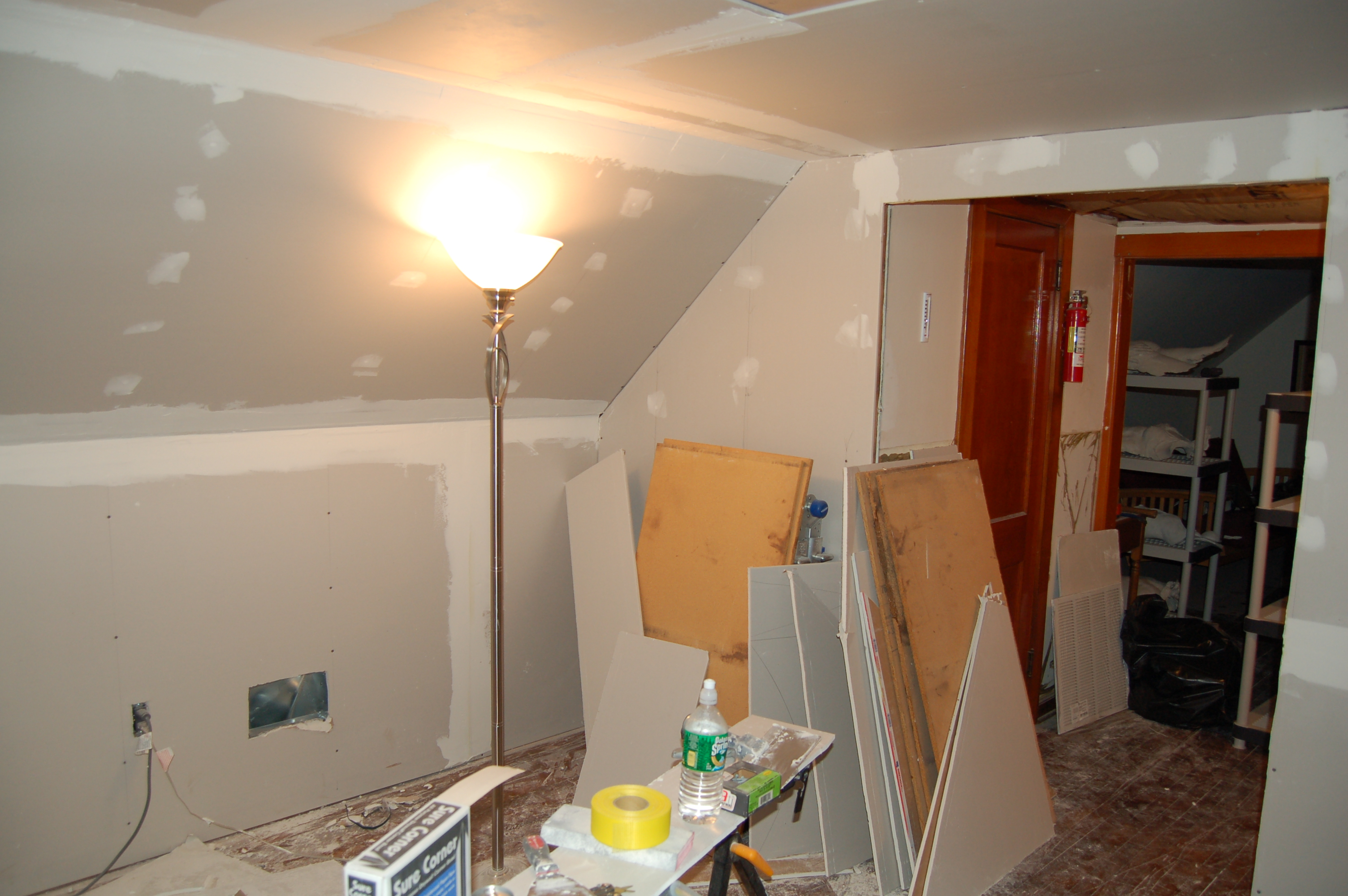 Sheetrock and Spackle